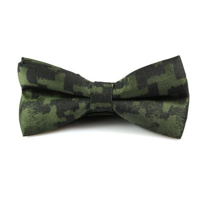 Venom Green and Night Polyester Novelty Butterfly Bow Tie