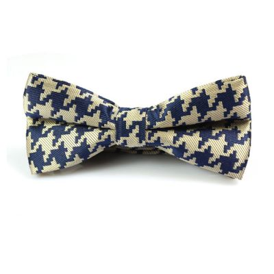 Midnight Blue and Sun Yellow Polyester Novelty Butterfly Bow Tie