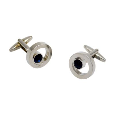 Black Circling Around Silver Cufflinks