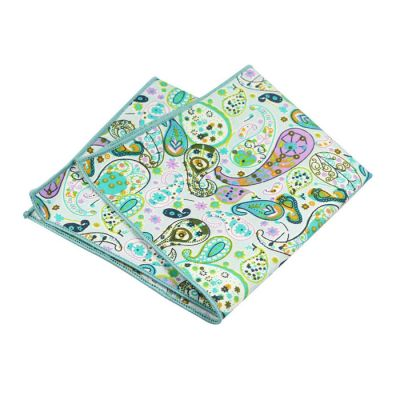 Tiffany Blue, Green, Corn Yellow, Blush Pink, SeaShell and Blue Eyes Cotton Paisley Pocket Square