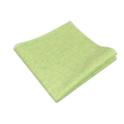 Slime Green Cotton Solid Pocket Square
