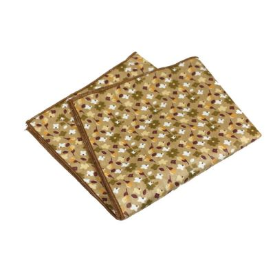 Mahogany, Mocha, Platinum and Sedona Cotton Floral Pocket Square
