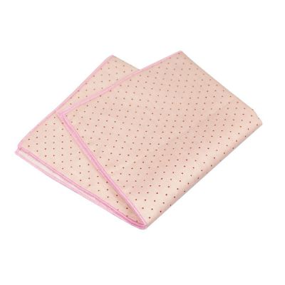 Misty Rose and Deep Pink Cotton Polka Dot Pocket Square
