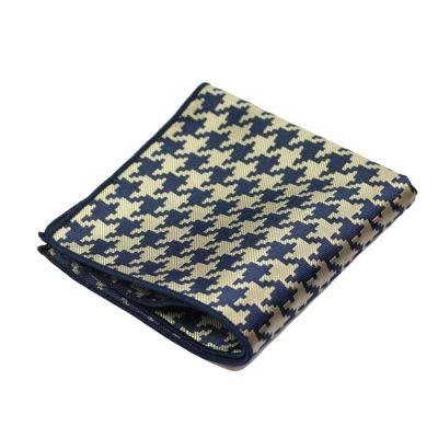 Blue Jay and Lemon Chiffon Polyester Novelty Pocket Square