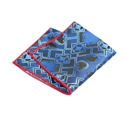 Love Red, Lapis Blue and Cobalt Blue Polyester Paisley Pocket Square
