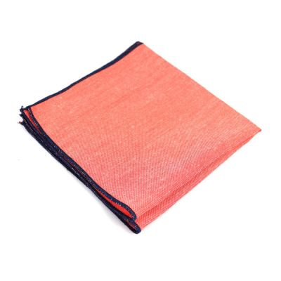 Midnight Blue Cotton Solid Pocket Square
