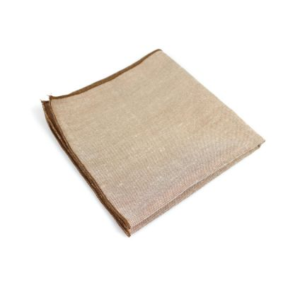 Peach Cotton Solid Pocket Square