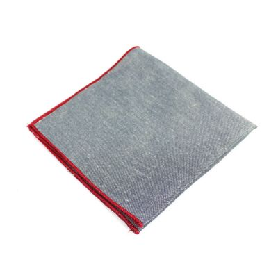 Red Wine Cotton Solid Pocket Square