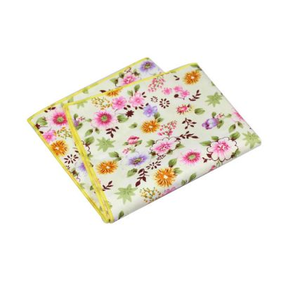 Platinum, Caramel, Red Dirt, Dull Purple and Pink Cotton Floral Pocket Square