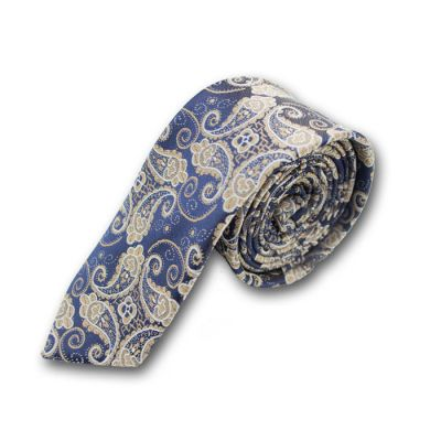6cm Purple Monster and BurlyWood Polyester Paisley Skinny Tie