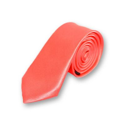 5cm Bean Red Polyester Solid Skinny Tie