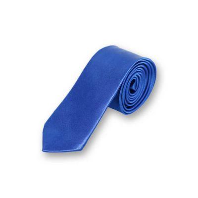 5cm Cobalt Blue Polyester Solid Skinny Tie