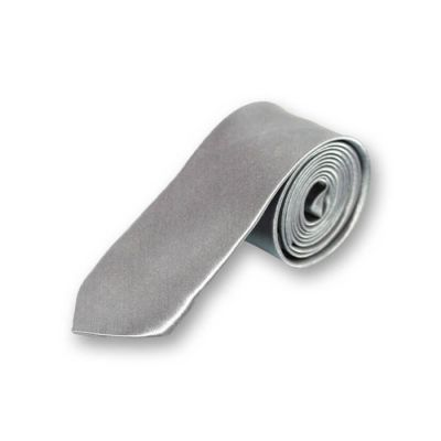 5cm Gray Goose Polyester Solid Skinny Tie