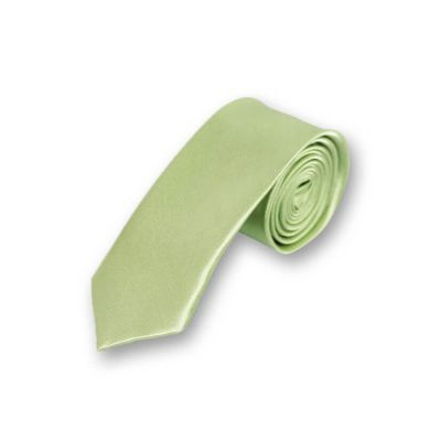 5cm Green Peas Polyester Solid Skinny Tie
