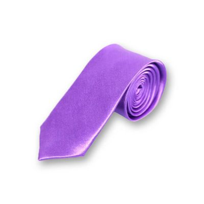 5cm Indigo Polyester Solid Skinny Tie