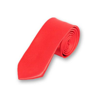 5cm Scarlet Polyester Solid Skinny Tie