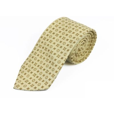 6cm Fall Leaf Brown and Brown Cotton Novelty Skinny Tie