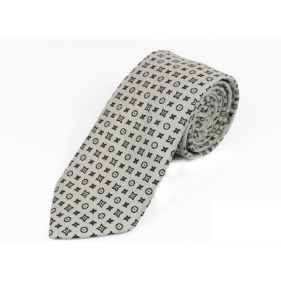 6cm Battleship Gray and Black Eel Cotton Novelty Skinny Tie