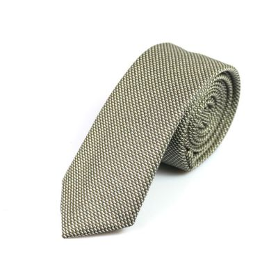 6cm Baby Blue and White Cotton Novelty Skinny Tie