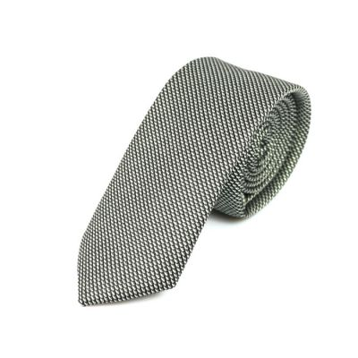 6cm Baby Blue and Black Cotton Novelty Skinny Tie