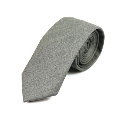 6cm Baby Blue Cotton Solid Skinny Tie