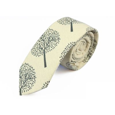 6cm SeaShell and Gray Dolphin Cotton Novelty Skinny Tie