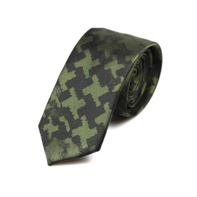 6cm Night and Dark Forest Green Polyester Novelty Skinny Tie