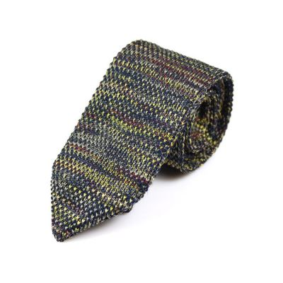 7cm Blue Whale, Pink Bubblegum, Love Red and Brass Knit Striped Skinny Tie