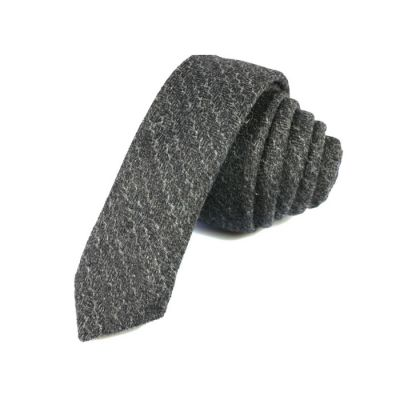 5cm Dark Slate Grey Cotton Striped Skinny Tie