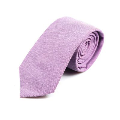 6cm Cotton Candy Cotton Solid Skinny Tie