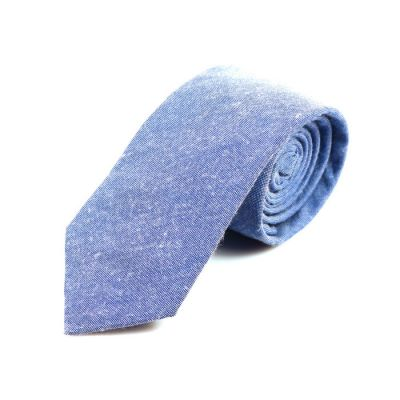 6cm Powder Blue Cotton Solid Skinny Tie