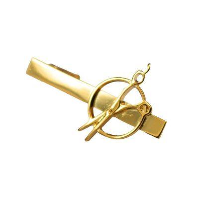 Gold Scissors Tie Bar